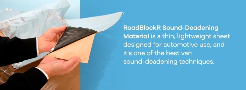 RoadBlockR Sound Deadening Material for Camper Vans