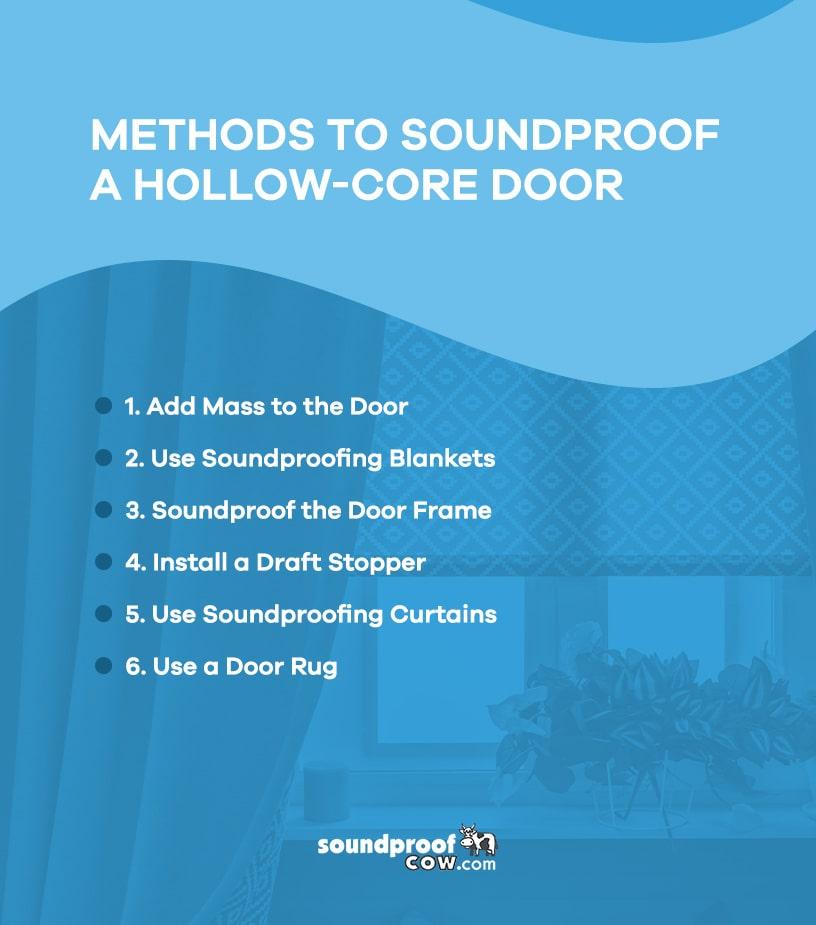 Methods to Soundproof a Hollow-Core Door