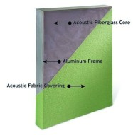 Acoustic Panel with Aluminum Frame Detail