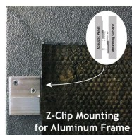 Acoustic Panel with Aluminum Frame Z-clip Mount