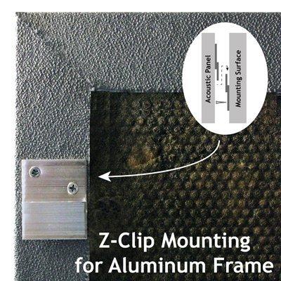 Acoustic Panel Aluminum Frame Z-Clip Mount