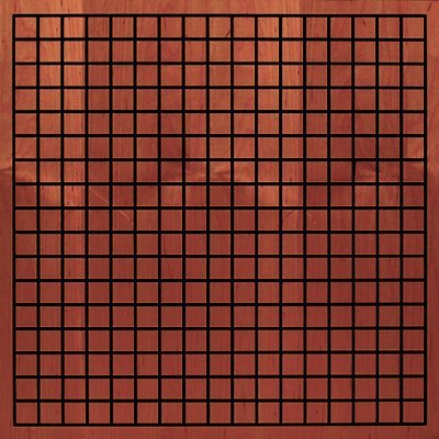 Eccotone Acoustic Wood Panel - Grid Colonial Cherry Finish