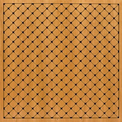 Eccotone Acoustic Wood Panel - Grid Diamond