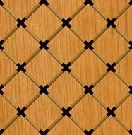 Eccotone Acoustic Wood Panel - Grid Diamond Detail