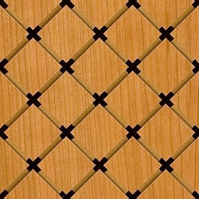 Eccotone Acoustic Wood Panel - Grid Diamond Detail