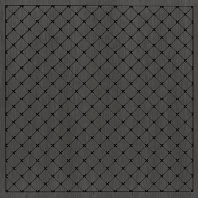 Eccotone Acoustic Wood Panel - Grid Diamond Ebony Finish