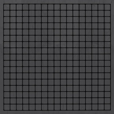 Eccotone Acoustic Wood Panel - Grid Ebony Finish