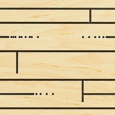 Eccotone Acoustic Wood Panel - Hardwood Detail