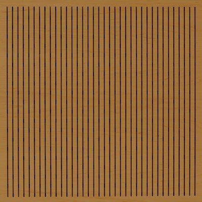 Eccotone Acoustic Wood Panel - Linear 133 Dark Natural Finish
