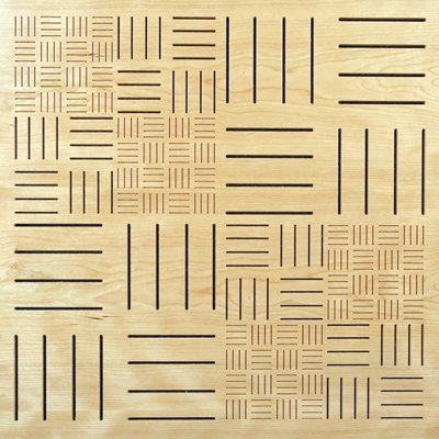 Eccotone Acoustic Wood Panel - Parquet Clear Maple Finish