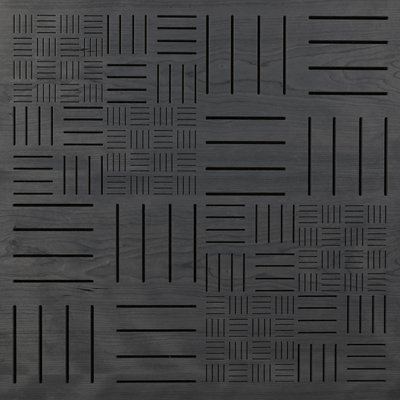Eccotone Acoustic Wood Panel - Parquet Ebony Finish