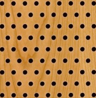Eccotone Acoustic Wood Panel - Perforated 6 Staggered Detail