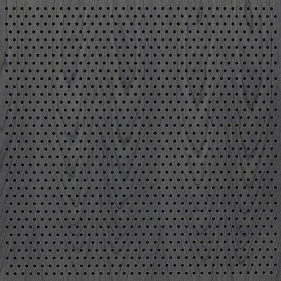 Eccotone Acoustic Wood Panel - Perforated 6 Staggered Ebony finish