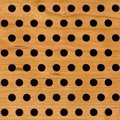 Eccotone Acoustic Wood Panel - Perforated 8 Staggered Detail