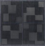 Eccotone Acoustic Wood Panel - Pixelation Ebony Finish