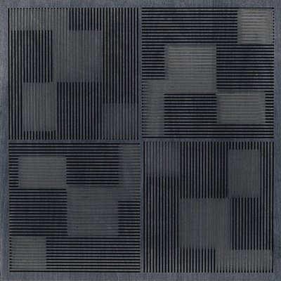 Eccotone Acoustic Wood Panel - Pixelation Ebony Finish