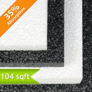 Quiet Board Acoustic Panel Charcoal 1 inch 104 Square Feet