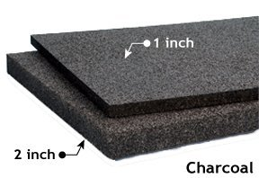 Quiet Board Acoustic Panel Charcoal 1 and 2 inch