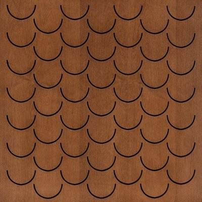 Eccotone Acoustic Wood Panel - Pesce Dark Natural Finish