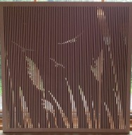 Acoustic Wood Panel - Custom Cattails