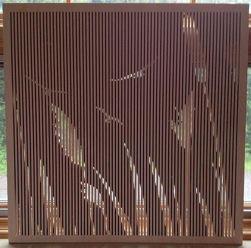 Acoustic Wood Panel - Custom Cattails