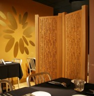 Acoustic Wood Partition - Restaurant