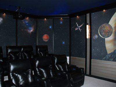 Art Acoustic Panel Home Theater Right Corner