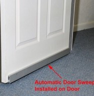 Soundproofing Automatic Door Sweep Installed