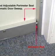Soundproofing Automatic Door Sweep with activator pin