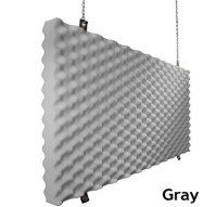 Fire Rated Acoustic Foam Baffle Gray