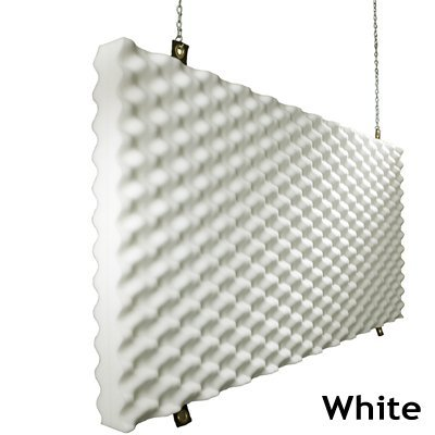 Fire Rated Acoustic Foam Baffle White
