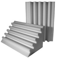 Fire Rated Acoustic Foam Corner Trap Gray 24 inch