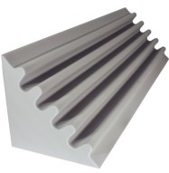 Fire Rated Acoustic Foam Corner Trap Gray 48 inch