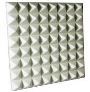 Fire Rated Studio Foam Pyramid White 3 inch