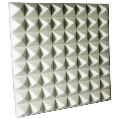 Fire Rated Acoustic Foam Pyramid White 3 inch