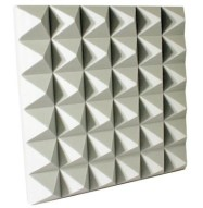Fire Rated Acoustic Foam Pyramid White 4 inch