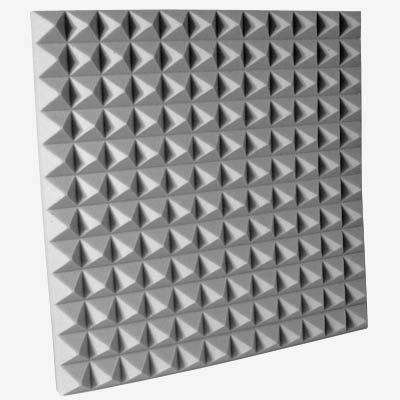Fire Rated Studio Foam Pyramid Gray 2 inch
