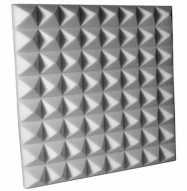 Fire Rated Studio Foam Pyramid Gray 3 inch