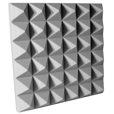 Fire Rated Acoustic Foam Pyramid Gray 4 inch