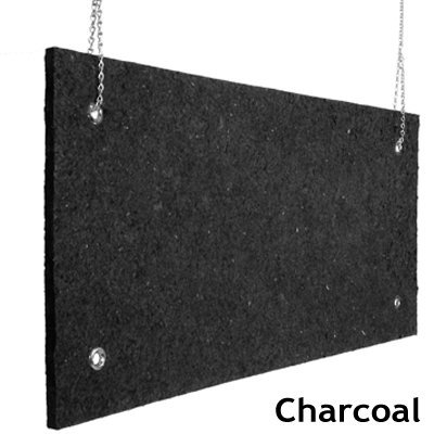 Echo Absorber Acoustic Baffle 1 inch Charcoal
