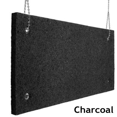 Echo Absorber Acoustic Baffle 2 inch Charcoal