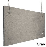 Echo Absorber Acoustic Baffle 1 inch Gray