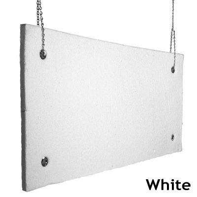 Echo Absorber Acoustic Baffle 1 inch White