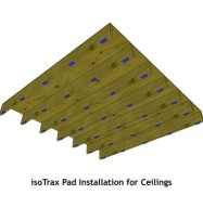 Soundproofing Isotrax Ceiling Pad Placement