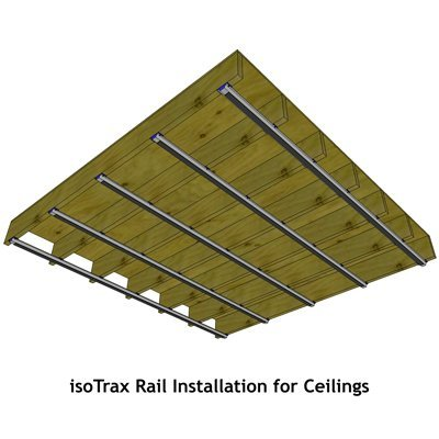 Soundproofing Isotrax Ceiling Rail Placement
