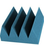 Bass Wedge Studio Foam 6 inch Aqua