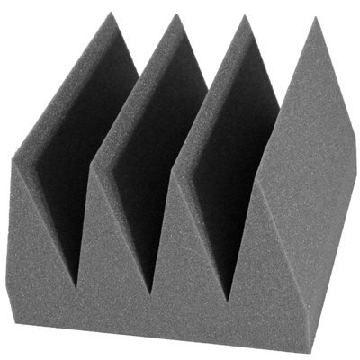 Bass Wedge Acoustic Foam 8 inch Charcoal