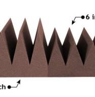 Bass Wedge Acoustic Foam 6 & 8 inch Chocolate