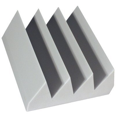 Fire Rated Acoustic Foam Bass Wedge Gray 6 inch