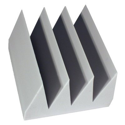 Fire Rated Acoustic Foam Bass Wedge Gray 8 inch